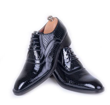 کفش لرد ورنی لوبیایی مسر مشکی