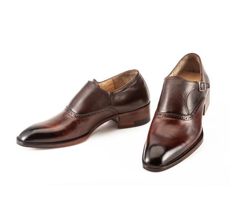 کفش چرم مردانه مدل دیناروس