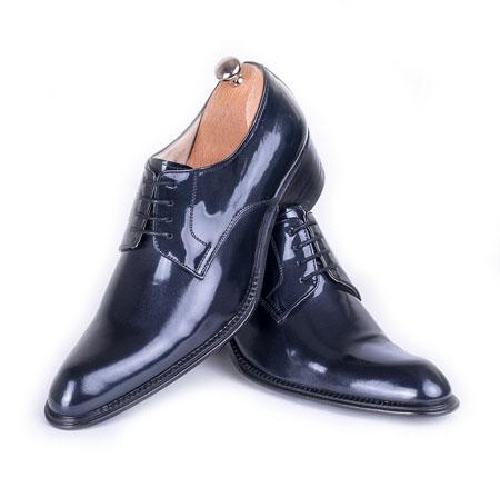 کفش رویه ساده ورنی طوسی