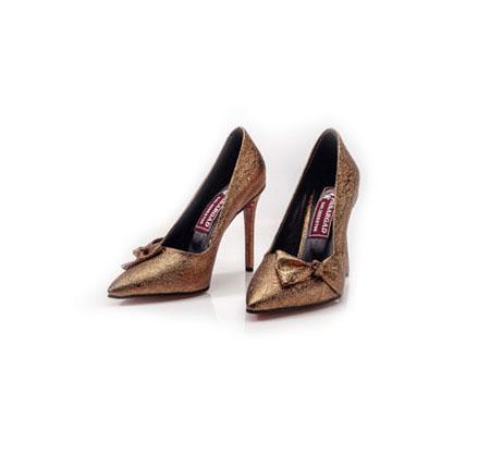 کفش زنانه مجلسی طرح لمه طلایی
