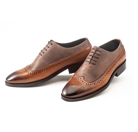 کفش چرم مردانه مدل جنوا